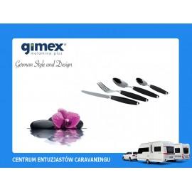 Zestaw sztućców czarnych16el. Gimex melamina