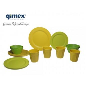 Zestaw obiadowy Bamboo 16el. Melamina Gimex