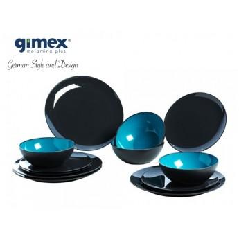 Zestaw obiadowy Greyline turkus 12 el. Gimex melamina