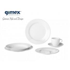 Zestaw obiadowy Edelweiss biały klasyczny 20 el. Gimex