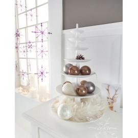 Zawieszka dekoracyjna w kształcie gwiazdki z przyssawką przezroczyste z drobinkami srebrnego brokatu 2szt. marki Koziol