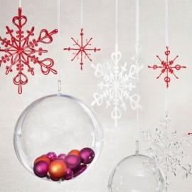 Ozdoba dekoracja świąteczna FLAKES czerwona L Koziol