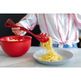 Łyżka do spaghetti Gina Organic czerwona Koziol