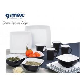 Zestaw obiadowy Quadrato Black&White 16 el. Gimex