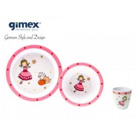 Zestaw obiadowy dla dziewczynki 3 elementy - Gimex