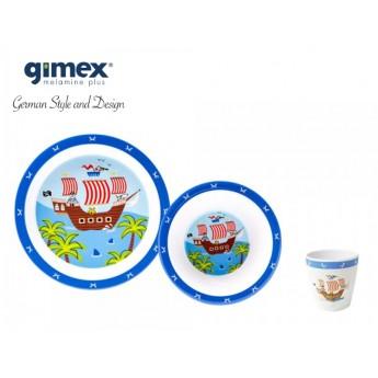 Zestaw obiadowy dla chłopca 3 elementy - Gimex