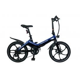 Rower składany elektryczny w kolorze granatowym Blaupunkt