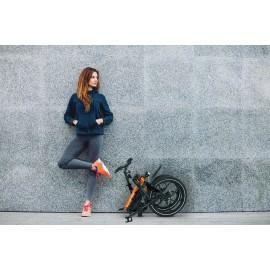 Składany rower elektryczny pomarańczowy Blaupunkt
