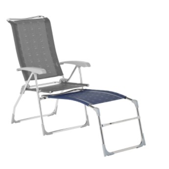 Podnóżek do krzesła w kolorze niebieskim