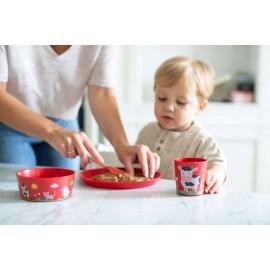 Zestaw naczyń dziecięcych Connect Organic Farm 3 el. Koziol