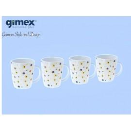 Zestaw kubków Flowers 4szt - Gimex