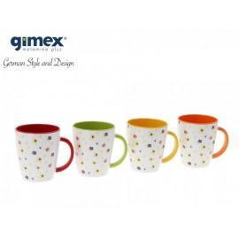 Zestaw kubków Rainbow Flowers 4szt - Gimex