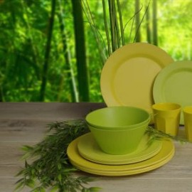 Zestaw kubków Bamboo 2szt.z silikonowymi przykrywkami