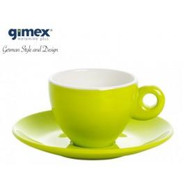 Zestaw filiżanek do espresso limonka 2szt - Gimex
