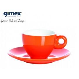 Zestaw filiżanek do espresso pomarańczowe 2szt - Gimex