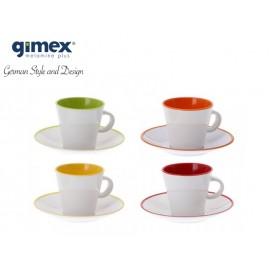 Zestaw filiżanek do espresso Rainbow 4szt - Gimex
