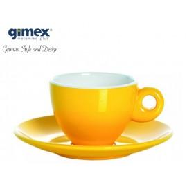 Zestaw filiżanek do espresso żółty 2szt - Gimex