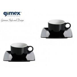 Zestaw filiżanek Quadrato Black&White 2szt - Gimex