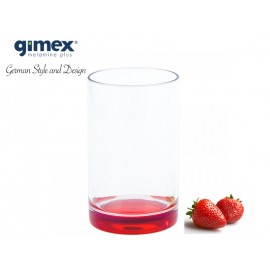 Szklanka z SAN z czerwonym dnem 1szt - Gimex melamina