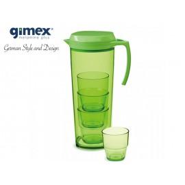 Dzbanek + 4 szklaneczki zielony - Gimex melamina