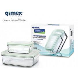 Zestaw pojemników szklanych 2szt Gimex melamina