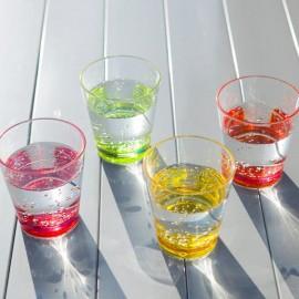 Szklanka z SAN z różowym dnem 1szt - Gimex melamina