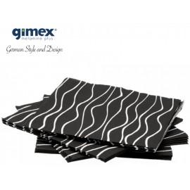 Serwetki papierowe czarne 20szt melamina Gimex