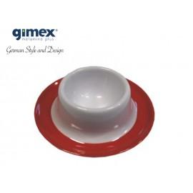 Zestaw podstawek do jajek Promoline czerwone 4szt - Gimex