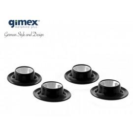 Zestaw podstawek do jajek Quadrato B&W 4 sztuki - Gimex