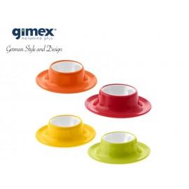 Zestaw podstawek do jajek Rainbow - 4 sztuki - Gimex