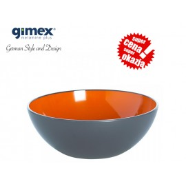 Miska z serii GreyLine pomarańczowa 1szt - Gimex