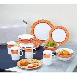 Zestaw sztućców pomarańczowych 16 elementów - Gimex