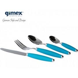 Zestaw sztućców turkusowych 16 elementów - Gimex