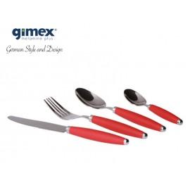 Zestaw sztućców czerwonych 16 elementów - Gimex