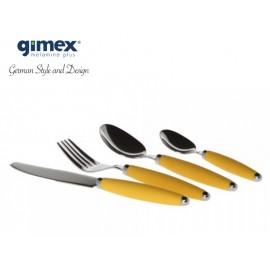 Zestaw sztućców żółtych 16 elementów - Gimex