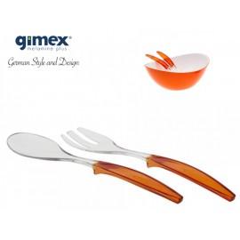 Zestaw sztućców sałatkowych pomarańczowych Gimex Melamina