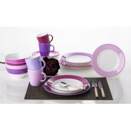Zestaw sztućców sałatkowych różowych - Gimex