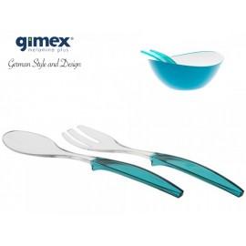 Zestaw sztućców turkusowych - Gimex Melamina