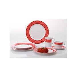 Zestaw sztućców sałatkowych czerwonych - Gimex
