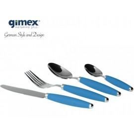 Zestaw sztućców błękitnych 16el. melamina Gimex