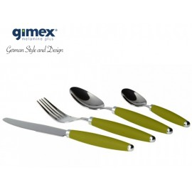 Zestaw sztućców oliwkowych 16el. Gimex melamina