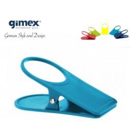 Klips/uchwyt stołowy turkusowy 1szt - Gimex