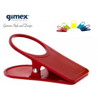 Uchwyt/klips do stołu czerwony 1szt - Gimex