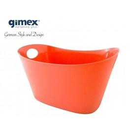 Kosz z giętkiego tworzywa czerwony- Melamina Gimex