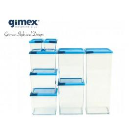 Zestaw pojemników z silikonowymi pokrywkami 16el- Gimex melamina