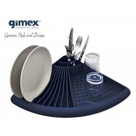 Ociekacz narożny granatowy 1szt melamina Gimex