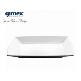 Talerz deserowy Quadrato Black&White 1szt melamina Gimex