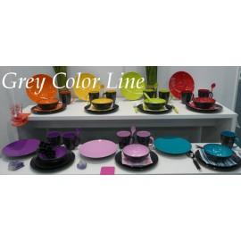 Talerz do pasty GreyLine różowy 1szt - Gimex