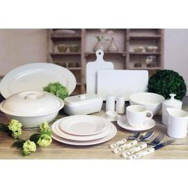 Talerz obiadowy Edelweiss biały klasyczny 1szt - Gimex