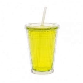 Kubek ze słomką limonka 1szt - Gimex